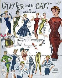 Vintage Frederick's of Hollywood, these catalog's where really made for TV's LOL