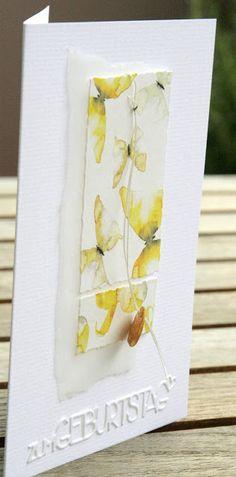 ...oder aus einem Bogen Designpapier sieben Karten gestalten. Ergänzt mit Stücken aus Pergaminpapier, Band und etwas zum Dranhängen, hatte...