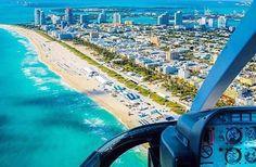 A miami depuis un hélico Ocean Drive, South Florida, Miami Beach, Airplane View, Explore, Lifestyle, Travel