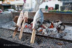 #Málaga #Food Grilled fish at Málaga beach. For more information: http://www.amazon.co.uk/M%C3%A1laga-Capital-Coast-Brigitte-Hilbrecht/dp/1517300533/ref=sr_1_1?s=books&ie=UTF8&qid=1456574193&sr=1-1&keywords=malaga