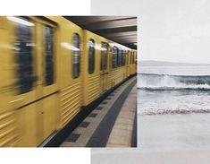 train via We Heart It - beach via Pinterest Mid-century Interior, Interior Styling, Sliding Windows, Shades Of Yellow, Minimalist Interior, Window Panels, Color Of The Year, Pantone Color, Contemporary Interior