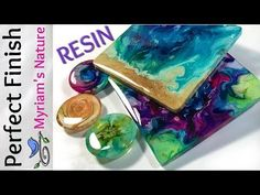 58] RESIN : Getting a DOMED flawless FINISH on PETRI art, pieces from a MOLD or taped Fluid art - YouTube
