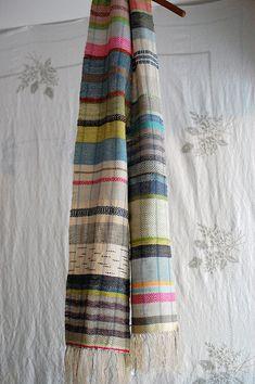 handwoven, hemp, linen, cotton, and silk. Weaving Designs, Weaving Projects, Weaving Patterns, Knitting Patterns, Loom Weaving, Hand Weaving, Cricket Loom, Loom Scarf, Woven Scarves