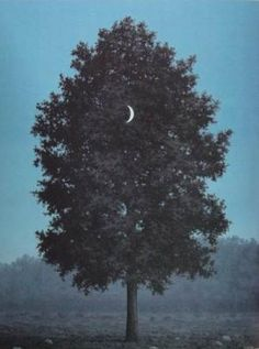 Moon and tree. Magritte