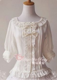 Magic Tea Party Middle Sleeves Lolita Shirt 3 Colors $36.99-Lolita Shirts - My Lolita Dress