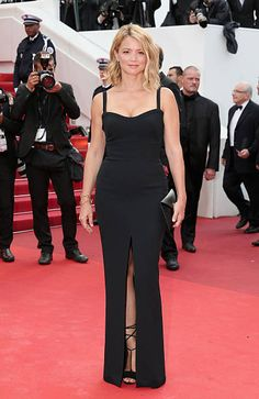 French actress Virginie Efira attends the 'Cafe Society' premiere and the Opening Night Gala during the 69th annual Cannes Film Festival at the...