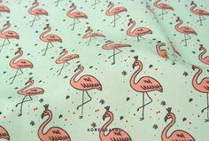 Flamingo fabric Flamingo pattern 44x35 100% Flamingo Fabric, Flamingo Pattern, Scandinavian Fabric, Snoopy, Art, Kunst, Art Education, Artworks