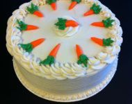 Carrot Cake decorated with cute carrots. If you like carrot cakes, this is one you will love. Special recipie is full of yummy!