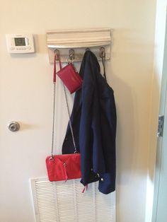Hook inside our door :).