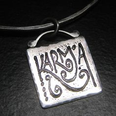 I drew the design and then transfered it as a resist onto silver sheet to etch this Karma cham, soldered on the bail and hung it from one of my handmade silver bangles - handmade etched bangle sterling silver gift artisan Silver Gifts, Silver Bangles, Contemporary Jewellery, Handmade Silver, Charm Jewelry, Artisan Jewelry, Karma, Copper, Sterling Silver