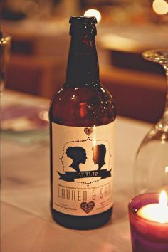 Cute label idea!! Awesome wedding favor if you ask me!