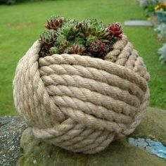 Click for a couple of dozen decorative and useful things to do with rope and I am not talking macrame! This looks like an interesting online magazine.