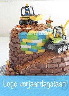 lego verjaardagstaart, legotaart, verjaardagstaart kind, birthday cake, kitkat taart