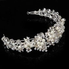 #NewChic - #NewChic Wedding Bridal Jewelry Rhinestone Crystal Pearl Headpieces Zircon Tiara Crown Headband - AdoreWe.com