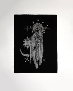 SATURNUS // Backpatch  SILVER by CRYPTOSTYLIS on Etsy