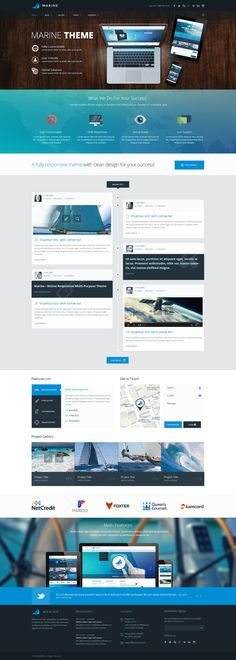 Marine Theme - Alternative Homepage on Behance