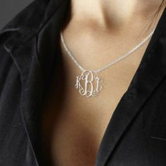 preppy monogram necklace.  Would love this in sterling silver!  http://www.etsy.com/shop/MonogramNecklaceGift