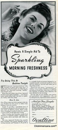 Want sparkling morning freshness? Try Ovaltine (1941) - Click Americana
