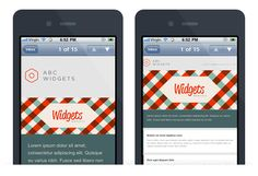 Mobile email design - before & after - apple iphone mail Html Email, Responsive Email, Layout Design, Web Design, Design Campaign, Campaign Monitor, Phone Cases Iphone6, Ui Patterns, Email Design