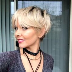 Image result for fine hair pixie cut