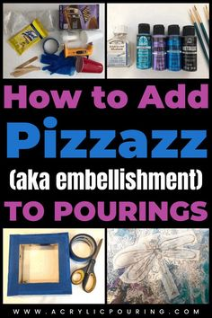 Turn your boring acrylic pouring artworks by adding pizzazz or embellishment to make it unique and stand out. #acrylicpouring #embellishment #pizzazz Acrylic Painting Tips, Acrylic Pouring Art, Pour Painting, Acrylic Canvas, Resin Tutorial, Fluid Acrylics, Learn To Paint, Art Tips, Art Lessons