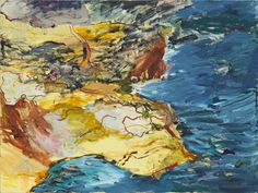 MICHAEL TAYLOR Cliff walk 2013 oil and oil stick on linen 137 × 182 cm