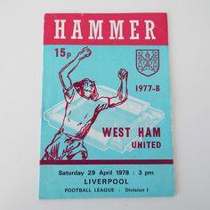 Vintage 1978 West Ham United Versus Liverpool Football Soccer Programme by VintageBlackCatz on Etsy