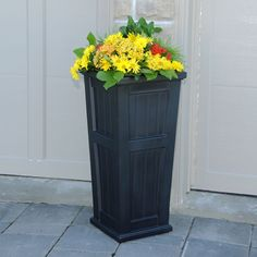Cape Cod Tall Planter Black | Outdoor Decor