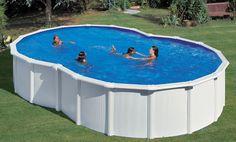 Piscinas Desmontables Gre Serie Varadero Forma 8. Además de no llevar contrafuertes laterales (los lleva ocultos), tiene una forma diferente a todas las piscinas desmontables. Espectacular!