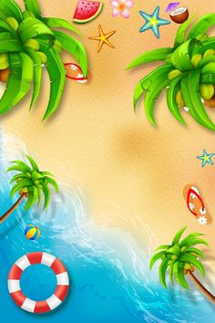 Ocean Backgrounds, Colorful Backgrounds, Cool Wallpaper, Iphone Wallpaper, Wallpaper Paisajes, Beach Background Images, Summer Beach Party, Summer Poster, Background Powerpoint