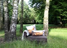 cushions for a nice day in the green. or at home. all by von ERIKA.