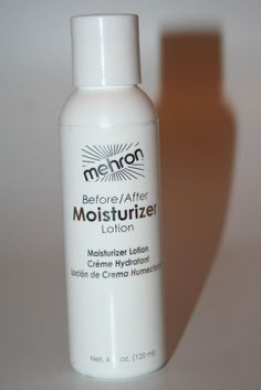 Before After Moisturizing Lotion Soothing Oil Free professional quality Mehron #Mehron #Head2ToeTheatrical
