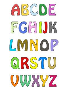 Alfabetos Lindos: MOLDES DE LETRAS PARA IMPRIMIR COLORIDOS