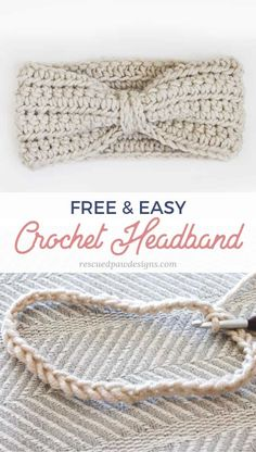 Use this FREE crochet ear warmer pattern today to make the easiest headband ever! Great for beginners and uses minimal yarn! and easy crochet projects for beginners Crochet Ear Warmer Pattern - Free Ear Warmer Headband Pattern Bandeau Crochet, Crochet Diy, Chunky Crochet, Simple Crochet, Crochet Hats, Crochet Ear Warmer Pattern, Crochet Headband Pattern, Knitted Headband, Crochet Ear Warmers