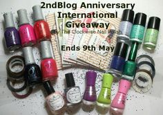 The Clockwise Nail Polish: Two Years Blog Anniversary International Giveaway