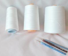極細カタン糸で編んだお花☆miniature cotton crochet