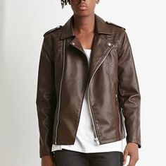 Faux Leather Moto Jacket Forever 21 Biker