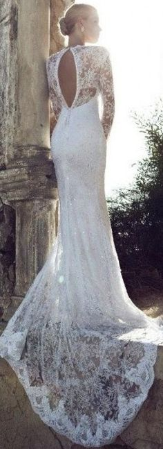 Absolutely in love with this dress! but with pletely open and not with the lace on the back or arms!!