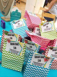 Origami Owl Grab bags - great idea!