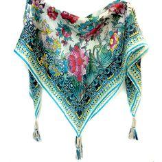 JOHNNY WAS Nova Floral Silk Scarf #johnny-was #scarf #scarves