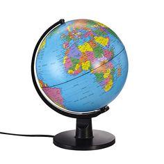 Monde Globe terrestre lumineux D20cm