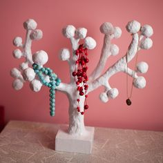 paper mache Jewelry Tree
