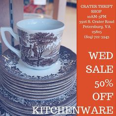 And Kitchenware includes #china which means this lovely set of dishes (including bowl platter & sugar/creamer) is only $150 today! #teaparty #vintage #vintagekitchen #vintagehome #thriftshop #thrift #buylocal petersburgva#colonialheights #chesterfield #emporiava #hopewellva #tri-citiesva