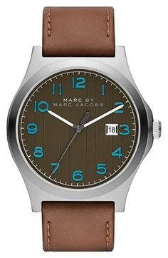 14ad9dd47db96 MARC BY MARC JACOBS  Jimmy  Leather Strap Watch