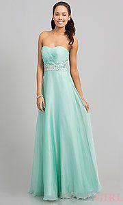 Buy Strapless Floor Length Dress at PromGirl