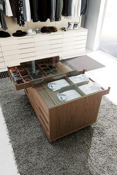 Nicchia Open Wardrobe - modern - Closet - Other Metro - Wokai Design Ikea Closet, Closet Bedroom, Closet Space, Closet Storage, Master Bedroom, Walk In Wardrobe, Wardrobe Design, Closet Island, Walking Closet