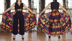 $99.99 Vintage 60s 70s Full Sweep Jumpsuit Kaleidoscope Opart Hostess MAXI Pants Dress http://www.ebay.com/itm/200736411836?ssPageName=STRK:MESELX:IT&_trksid=p3984.m1555.l2649