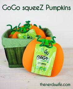 Healthy Preschool Snacks: GoGo squeeZ Pumpkins #TrickorsqueeZ #Texas