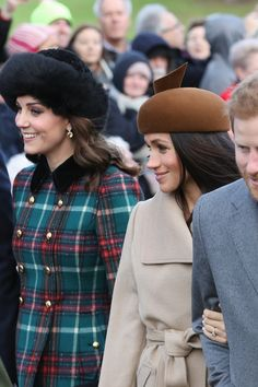 Kate Middleton and Meghan Markle Lead the Way As the Royals Head to Church on Christmas Day