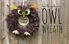 Absolutely adorable DIY barn owl wreath